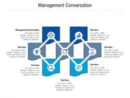 Management Conversation Ppt Powerpoint Presentation Gallery Ideas Cpb
