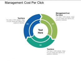 Management Cost Per Click Ppt Powerpoint Presentation Ideas Demonstration Cpb