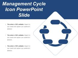 Management Cycle Icon Powerpoint Slide
