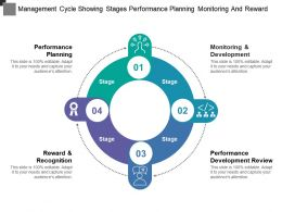 Management Cycle Showing Stages Performance Planning Monitoring And Reward