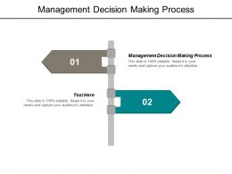 Management Decision Making Process Ppt Powerpoint Presentation Outline Graphics Cpb