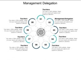 Management Delegation Ppt Powerpoint Presentation Icon Pictures Cpb