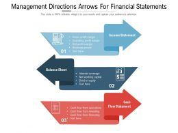 Management Directions Arrows For Financial Statements