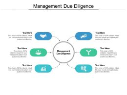Management Due Diligence Ppt Powerpoint Presentation Outline Rules Cpb
