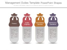 Management Duties Template Powerpoint Shapes