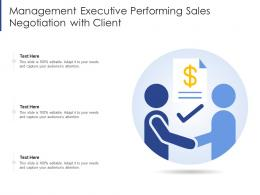 Management Executive Performing Sales Negotiation With Client