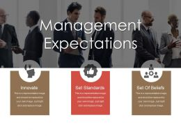 Management Expectations Ppt Icon