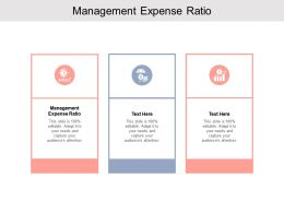 Management Expense Ratio Ppt Powerpoint Presentation Infographics Infographic Template Cpb