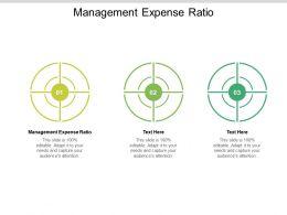 Management Expense Ratio Ppt Powerpoint Presentation Pictures Outfit Cpb
