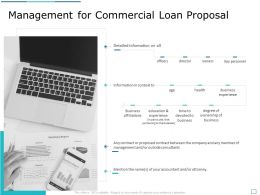 Management For Commercial Loan Proposal Ppt Powerpoint Presentation Ideas Gridlines