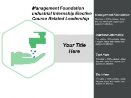 Management Foundation Industrial Internship Elective Course Related Leadership