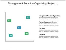 Management Function Organizing Project Management Overview Public Relations Media Cpb