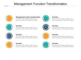 Management Function Transformation Ppt Powerpoint Presentation Styles Cpb