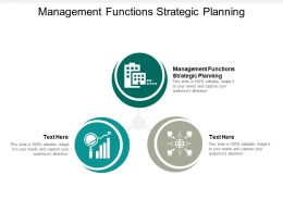 Management Functions Strategic Planning Ppt Powerpoint Presentation Model Elements Cpb