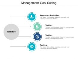 Management Goal Setting Ppt Powerpoint Presentation Model Gallery Cpb