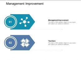 Management Improvement Ppt Powerpoint Presentation Layouts Microsoft Cpb
