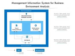 Management Information System For Business Environment Analysis