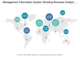Management Information System Showing Business Analyst And Database Administration