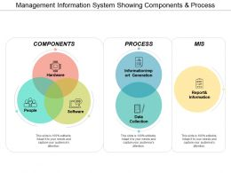 Management Information System Showing Components And Process