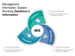 Management Information System Showing Database And Information 1