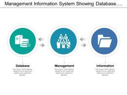 Management Information System Showing Database And Information