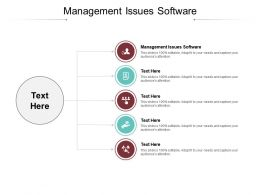 Management Issues Software Ppt Powerpoint Presentation Styles Demonstration Cpb