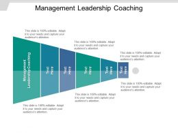 Management Leadership Coaching Ppt Powerpoint Presentation Summary Slides Cpb