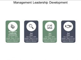 Management Leadership Development Ppt Powerpoint Presentation Slides Backgrounds Cpb
