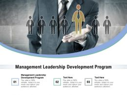 Management Leadership Development Program Ppt Powerpoint Presentation Layouts Example Topics Cpb