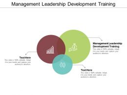 Management Leadership Development Training Ppt Powerpoint Presentation Professional Influencers Cpb