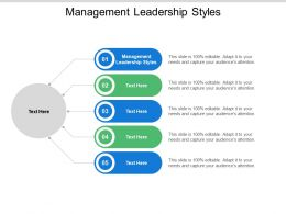 Management Leadership Styles Ppt Powerpoint Presentation Professional Format Cpb