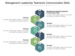 Management Leadership Teamwork Communication Skills Ppt Powerpoint Presentation Styles Themes Cpb