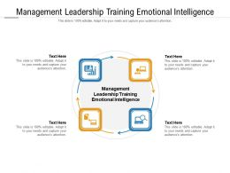 Management Leadership Training Emotional Intelligence Ppt Powerpoint Presentation Gallery Show Cpb