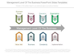 Management Level Of The Business Powerpoint Slides Templates