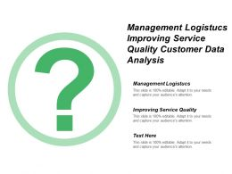 Management Logistics Improving Service Quality Customer Data Analysis