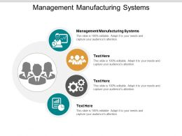 Management Manufacturing Systems Ppt Powerpoint Presentation Gallery Visuals Cpb