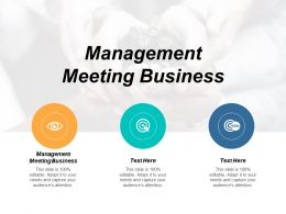 Management Meeting Business Ppt Powerpoint Presentation Styles Grid Cpb