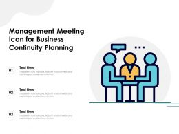 Management Meeting Icon For Business Continuity Planning