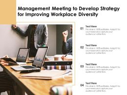 Management Meeting To Develop Strategy For Improving Workplace Diversity