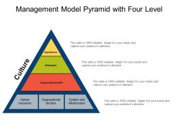 Management Model Pyramid With Four Level