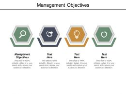 Management Objectives Ppt Powerpoint Presentation Infographic Template Summary Cpb