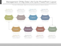 Management Of Big Data Life Cycle Powerpoint Layout