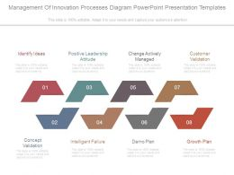 Management Of Innovation Processes Diagram Powerpoint Presentation Templates