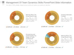 Management Of Team Dynamics Skills Powerpoint Slide Information