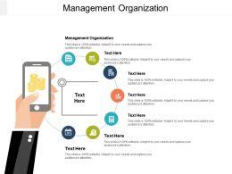 Management Organization Ppt Powerpoint Presentation Gallery Styles Cpb