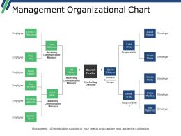 Management Organizational Chart Powerpoint Slide Backgrounds