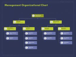 Management Organizational Chart Ppt Powerpoint Presentation Infographics Icon