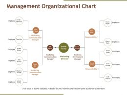 Management Organizational Chart Ppt Samples