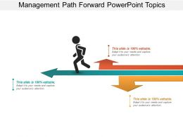 Management Path Forward Powerpoint Topics