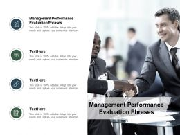 Management Performance Evaluation Phrases Ppt Powerpoint Presentation Styles Clipart Cpb